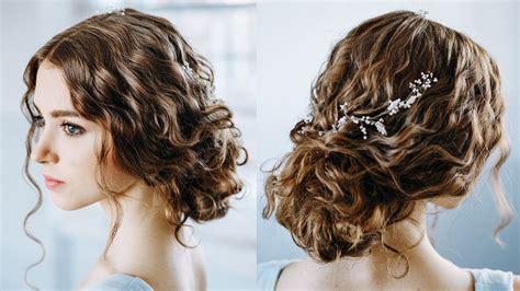 wavy curly hair tutorial elegant curly bun easy updo
