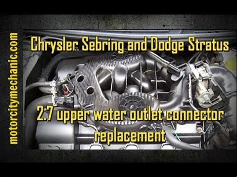 dodge stratus 2 4 water replacement replacing radiator on dodge stratus how to save money