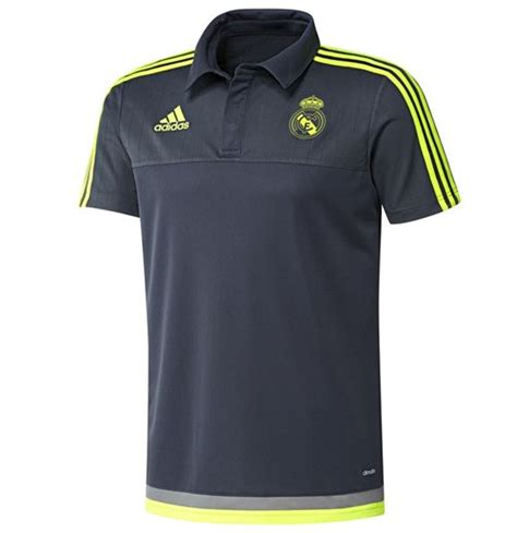 Polo Shirt Real Madrid Cl Black 2015 2016 real madrid adidas cl polo shirt grey for only