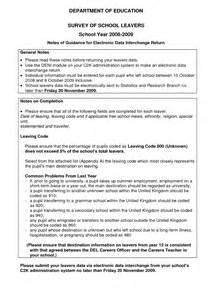 School Leaver Resume Template by School Leaver Cv Template