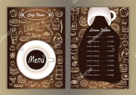 coffee menu template 20 coffee menu templates free sle exle format