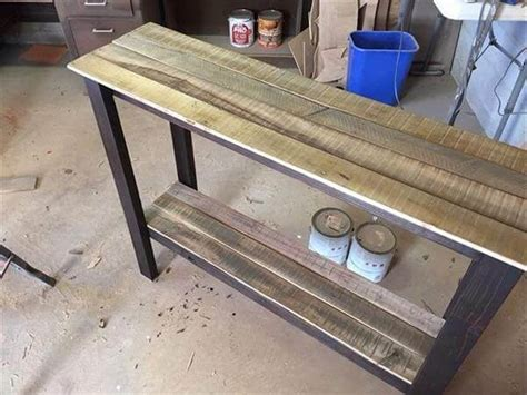 sofa table diy pallet sofa table entryway foyer table pallet