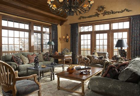 European House Designs by English Manor House In Edina Traditional Family Room