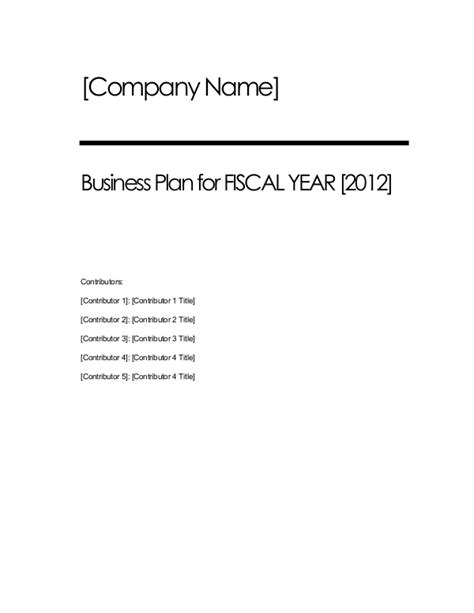 free business plan templates for word excel open office