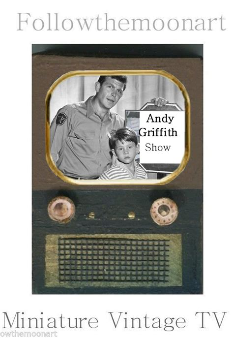 dolls house tv show andy griffith tv show miniature vintage tv for doll house