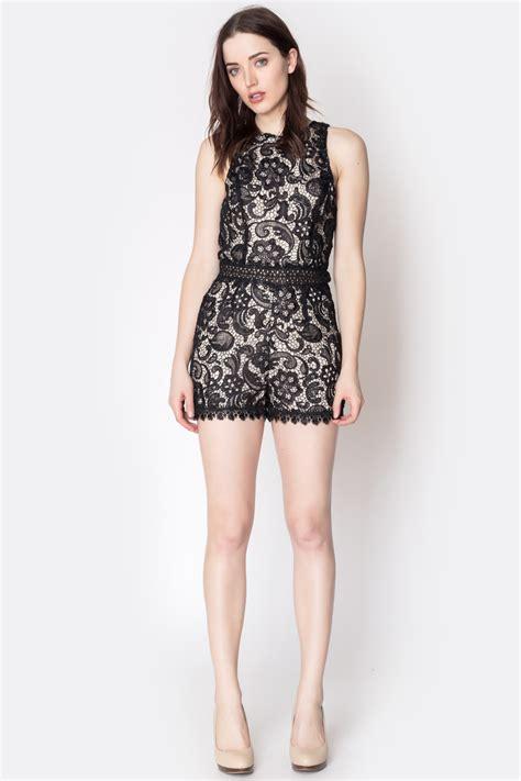 Bj 7826 Black Lace Dress caren forbes black lace romper from connecticut shoptiques