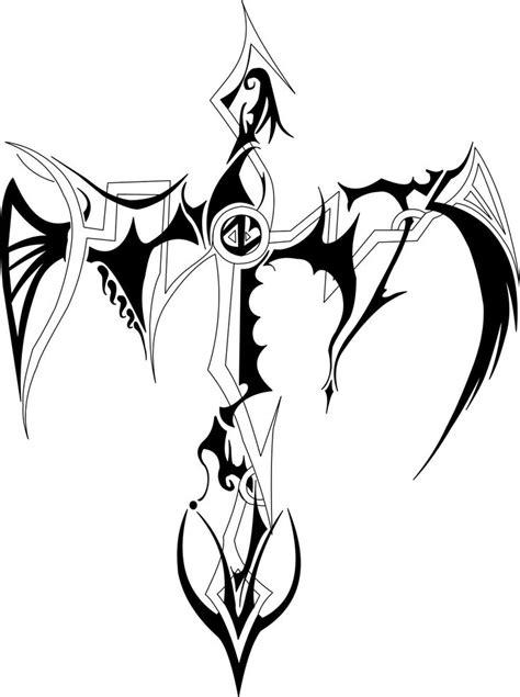 tribal hunter tattoo cross designs tribal cross by g 114