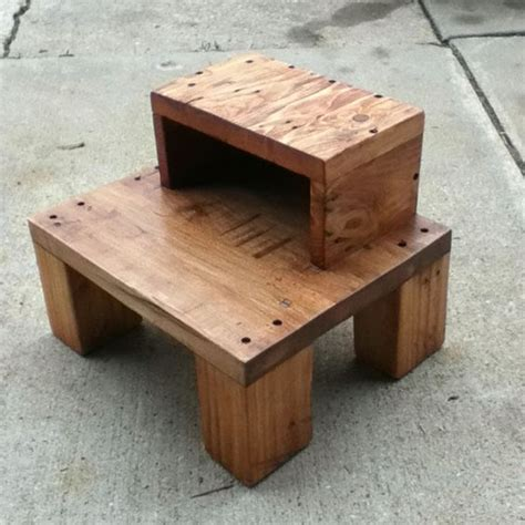 Pallet Step Stool by Recycled Pallet Step Stool Pallet Design