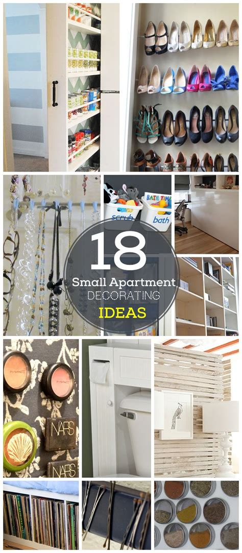 Diy Organization Ideas For Small Spaces | 18 diy small apartment decorating ideas click for