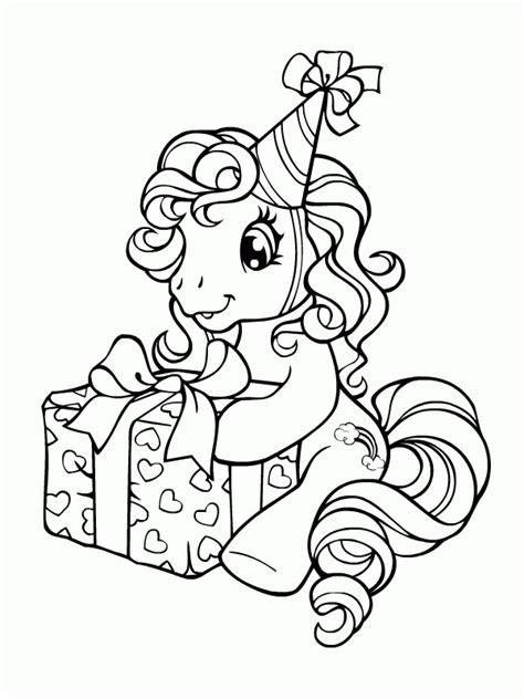 my little pony happy birthday coloring page kucyk pony kolorowanki czas dzieci