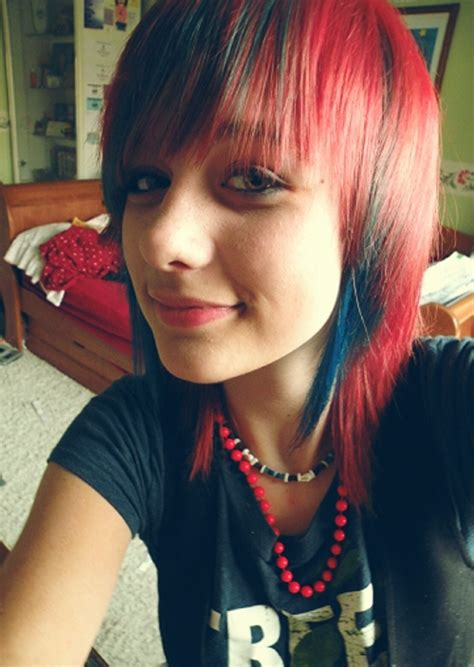 red hair with blue highlights 25 groovy black hair with red highlights pictures