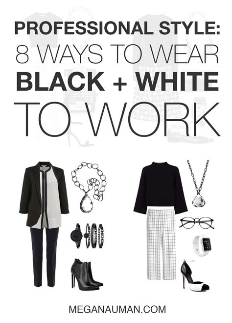 8 Ways To Wear White by 8 Chic And Stylish Ways To Wear Black And White To Work