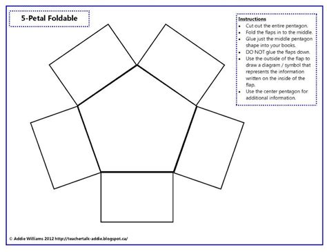 foldable five petal foldable 3rd grade sc history