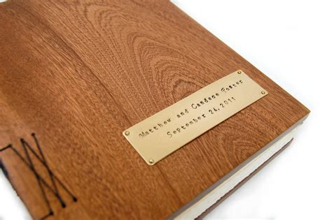 Handmade Guest Book - handmade mahogany guest book with wood covers custom