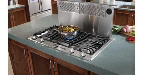 pop up vent for gas cooktop pop up ventilation for gas stoves in kitchen islands