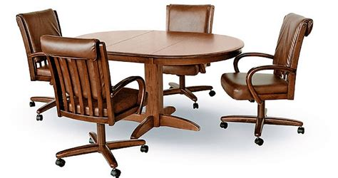 Dining Table With Caster Chairs Chromcraft Caster Chair Dining Room Concepts