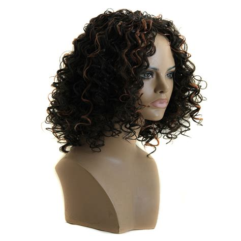 Wig Hairladies 21 sale ombre wig black brown color wig synthetic curly hair wig for black