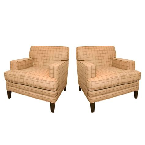 armchairs upholstered pair of vintage upholstered armchairs at 1stdibs