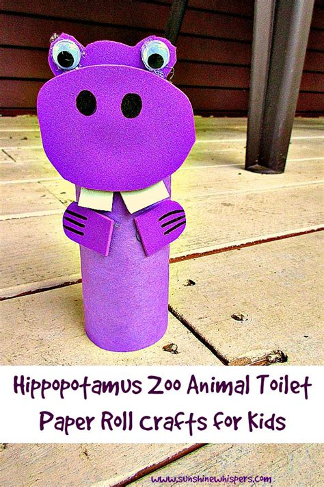 Toilet Paper Crafts For - hippopotamus zoo animal toilet paper roll crafts for