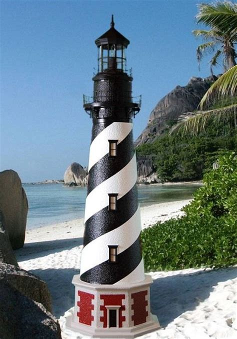 rotating beacon light for outdoor lighthouse cape hatteras lawn lighthouse with working lights