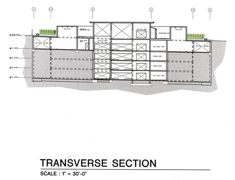 transverse section architecture crsi crsi projects