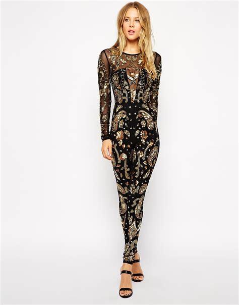 Jumpsuit Premium S M 1 asos premium embellished jumpsuit in black lyst