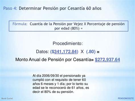 seguro por cesanta en edad avanzada mnimo 60 aos de edad y 25 presentacion pensiones imss issste