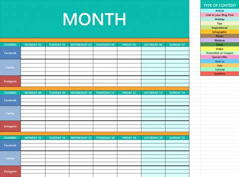 social media planning calendar template social media planning calendar template social media