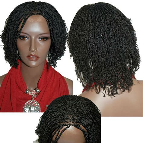 kinky twist with braids in the front free shipping fully hand braided lace wig kinky twist 1b