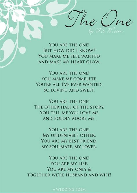 The One   vintage wedding   Wedding poems, Wedding quotes