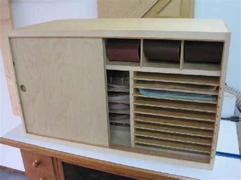 sandpaper storage cabinet   woodworking workshop