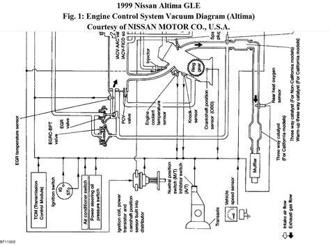 1999 nissan maxima vacuum hose diagram where can i find a vacuum line schematic diagram i
