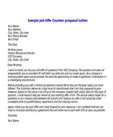 Counter Offer Letter Sle House Sles And Templates Formated
