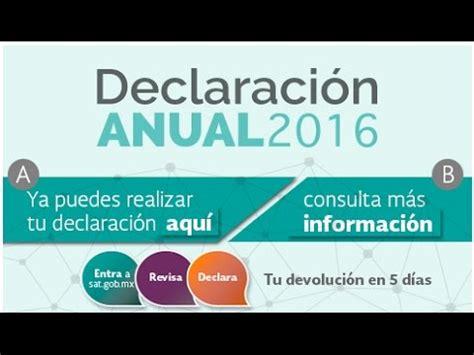declaracin anual declarasat sat mxico youtube como presentar mi declaraci 243 n anual en 2017 sat para