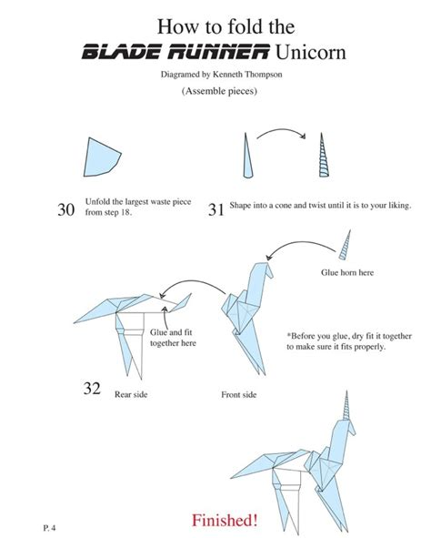 Origami Unicorn Diagram - bladerunner unicorn diagram tykat wedding