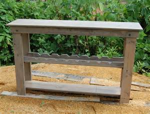 wine rack table sofa table console table bar reclaim wood
