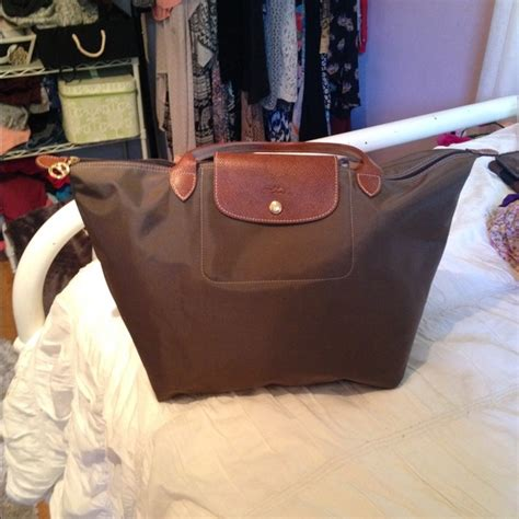Authentic Longch Op Small Handle Ssh Purple 40 longch handbags longch le pliage tote size large in taupe from lilly s closet