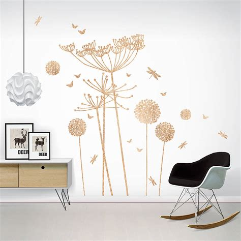 wall print stickers wood print cowparsley wall stickers by funky darlings notonthehighstreet