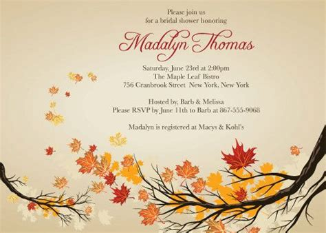 free fall themed bridal shower invitations 120 best images about wedding showers on picnic birthday picnic weddings and