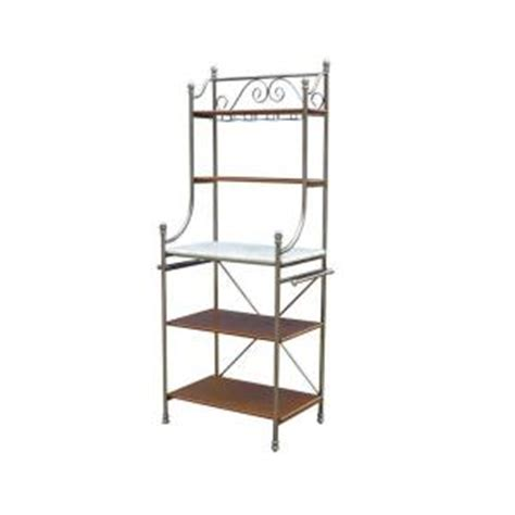 Bakers Rack Home Depot by Home Styles The Orleans 34 In W Bakers Rack In Vintage