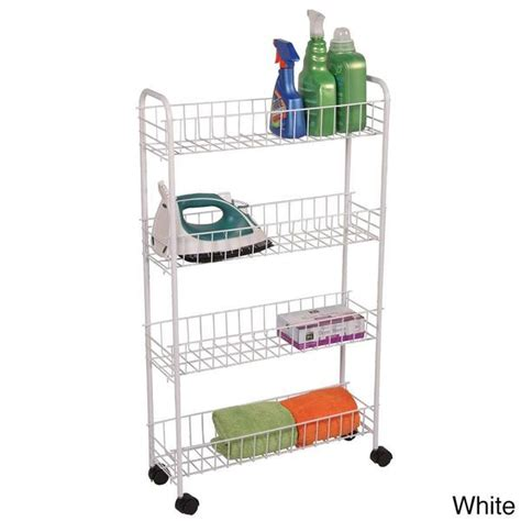 bathroom storage cart shop 4 tier rolling bath storage cart free shipping on orders 45 overstock 8433708
