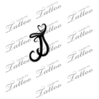 j tattoos designs intertwined letter j s custom intertwined letter