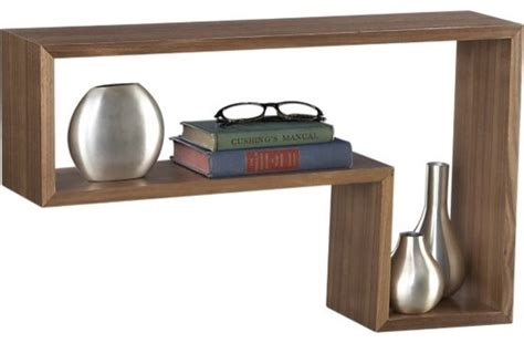 l walnut shelf modern display and wall shelves by