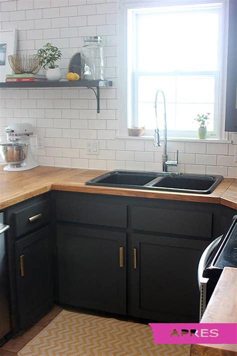 prix renovation cuisine bien renovation cuisine bois avant apres 7 placards