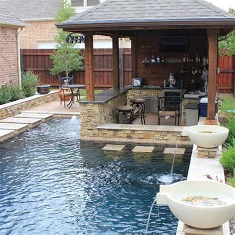 backyard designs with pool and outdoor kitchen 25 fabulous small backyard designs with swimming pool architecture design