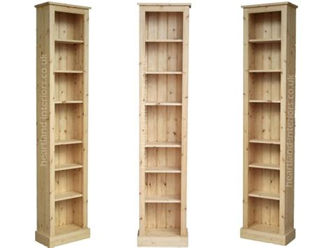 solid oak bookcases in seven sizes solid pine or oak 7ft tall narrow slim jim bookcase