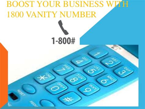 1800 Vanity Numbers boost your business with 1800 vanity no