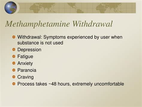 Meth Detox Symptoms by Ppt Psychoactive Substances Powerpoint Presentation Id