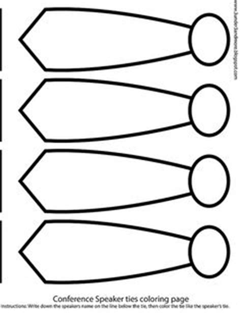 lds conference tie coloring page write speakers name and