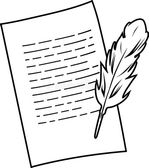 imagenes de hojas a blanco y negro hoja y pluma de papel dibujo blanco y negro ilustraci 243 n